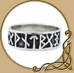 Viking Rune Ring, silver